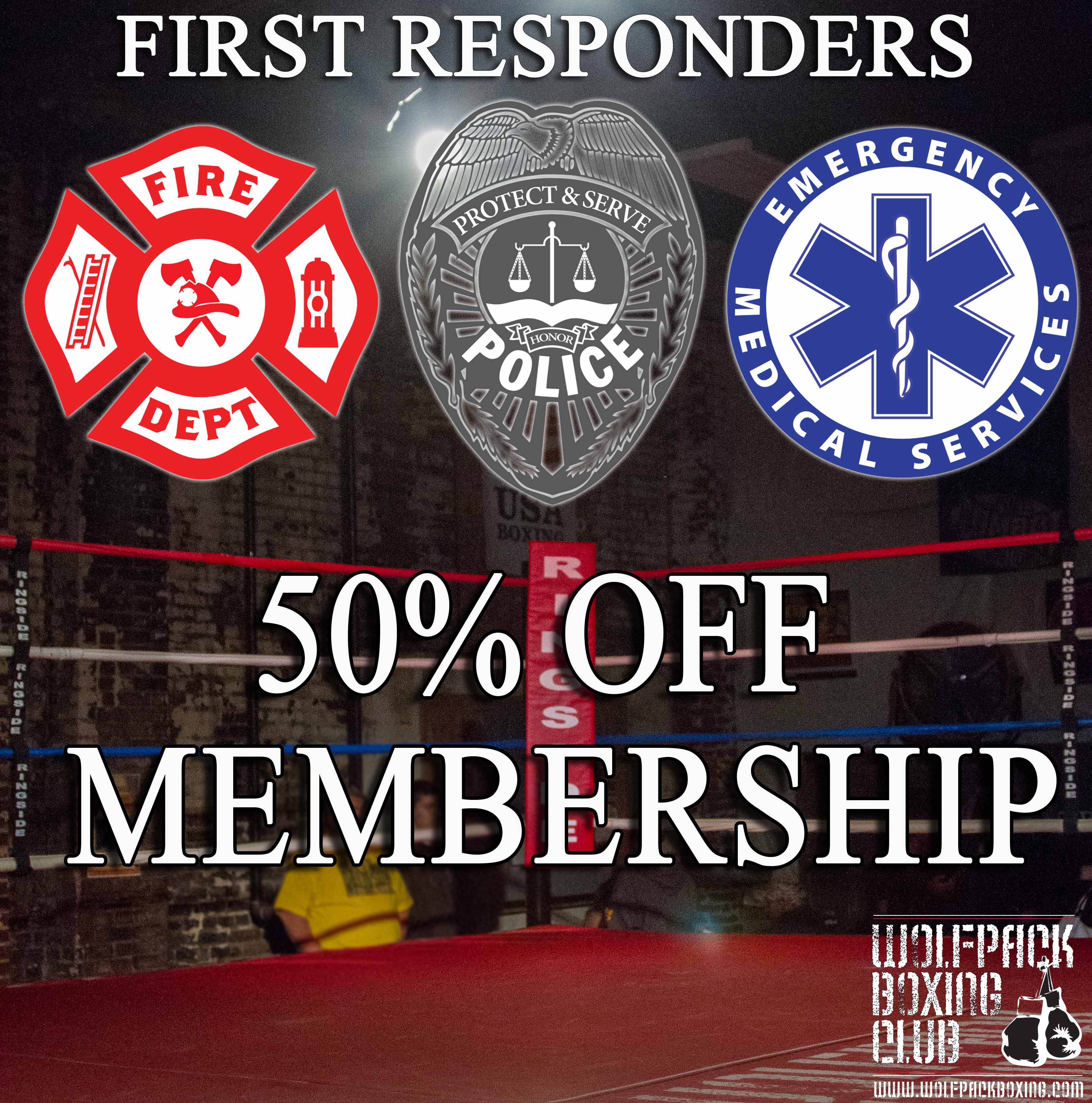 First Responders receive a discount at Wolfpack Boxing Club